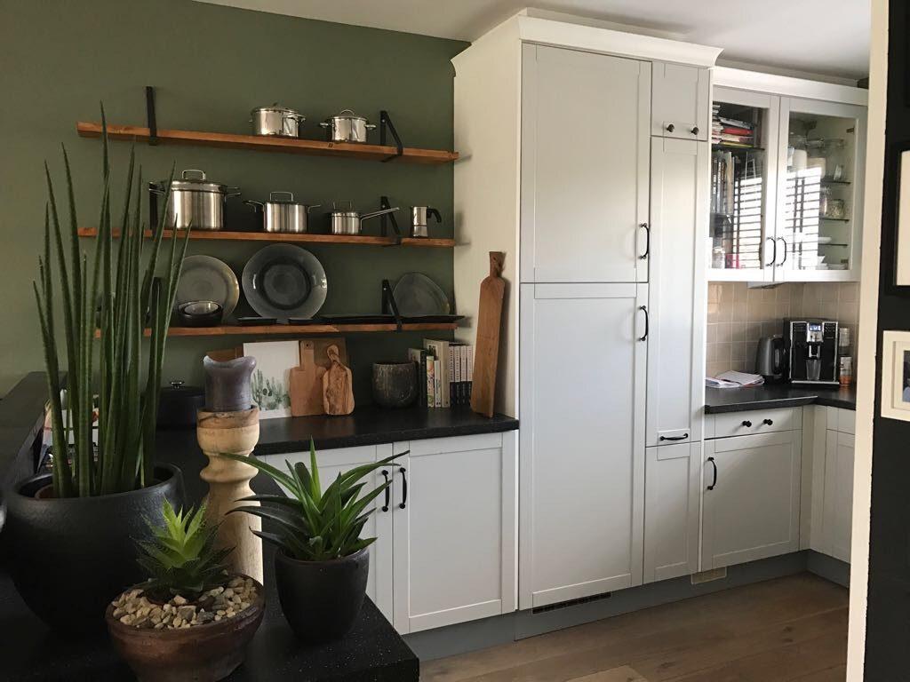 Wij krijgen een nieuwe keuken familie over de kook
