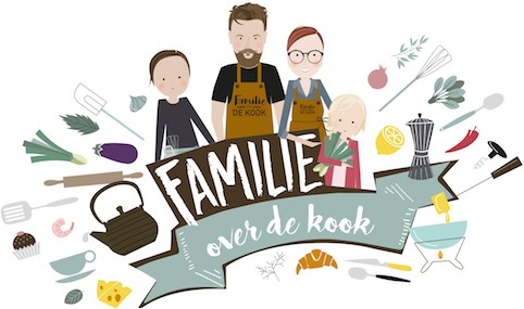 Familie over de kook