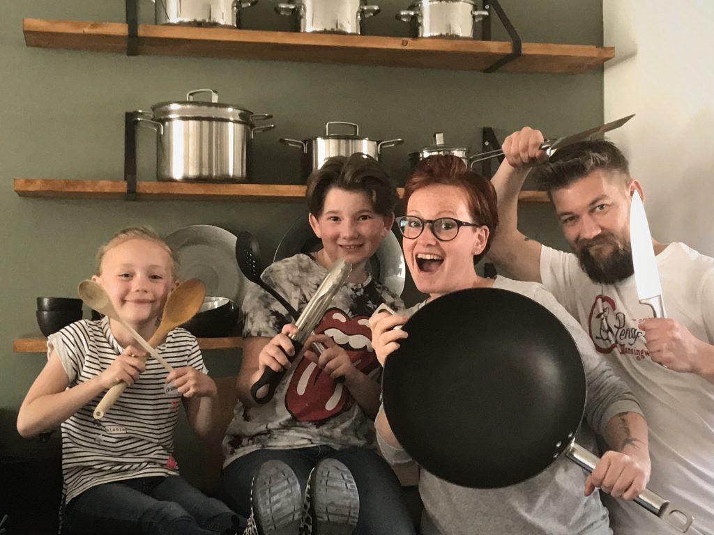 familie over de kook