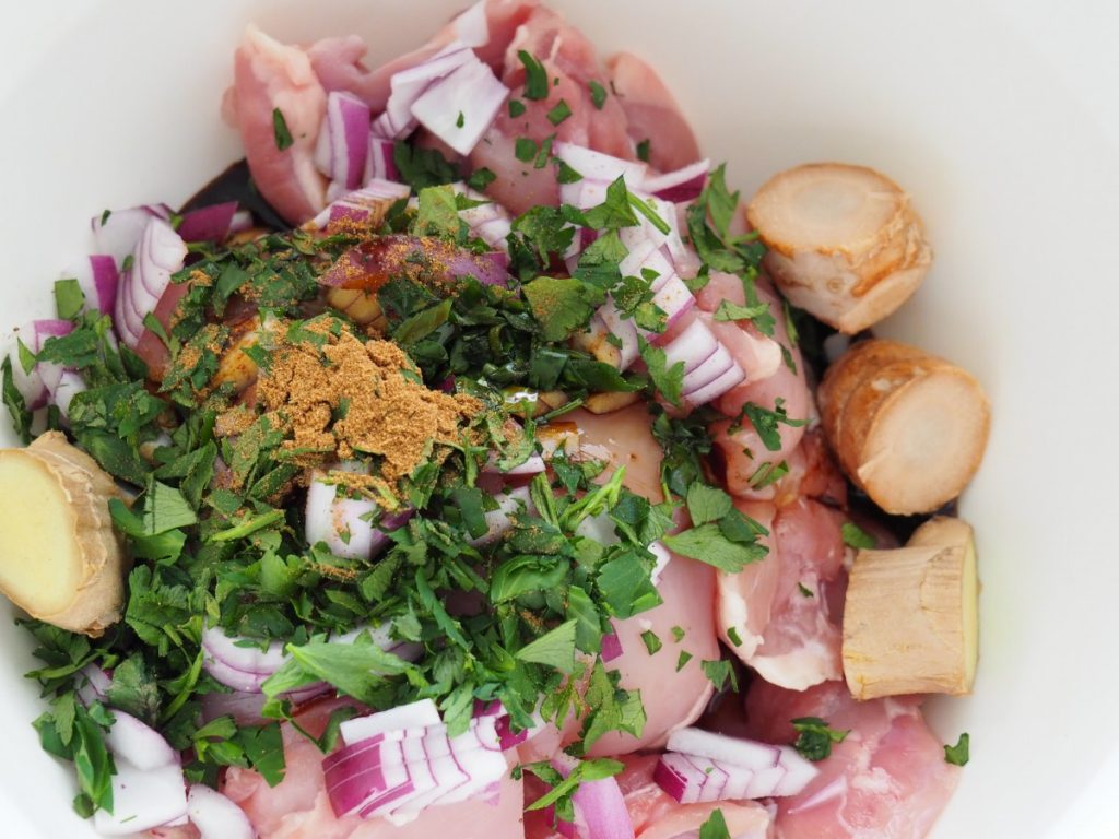 ingrediënten Surinaamse stoofpot met kip