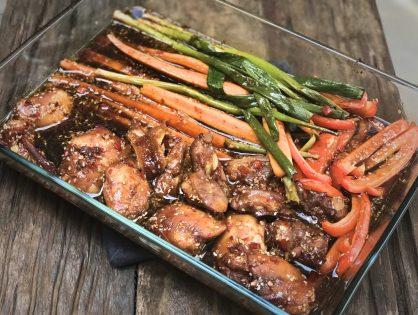 kip ketjap uit de oven met groenten