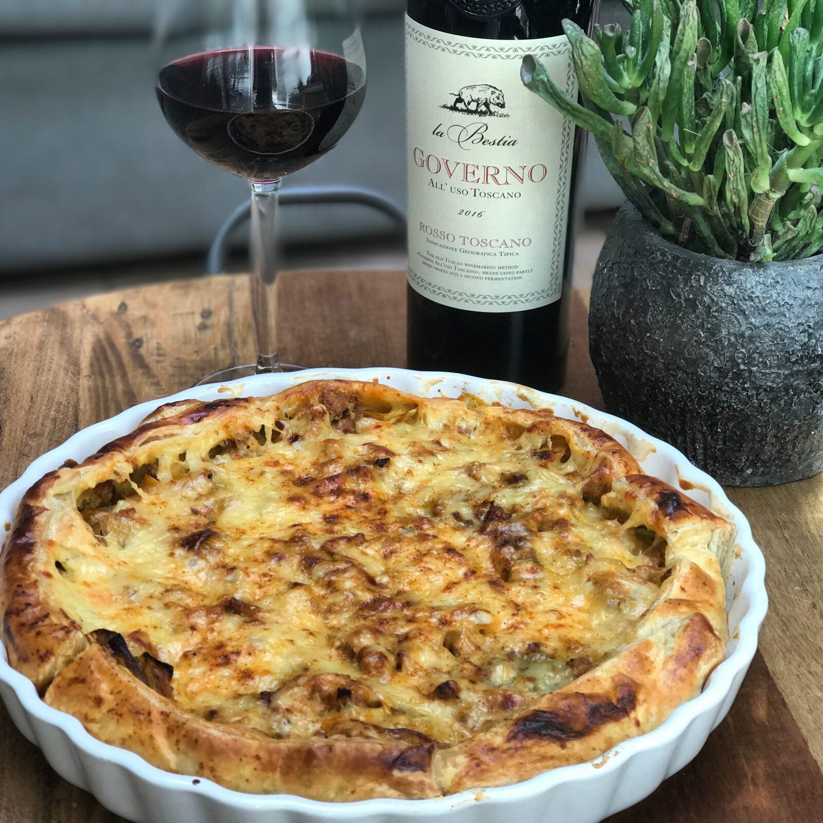 hartige preitaart met roomkaas - Familie over de kook