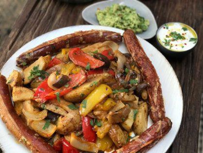 Mexicaanse aardappel Fajita ovenschotel