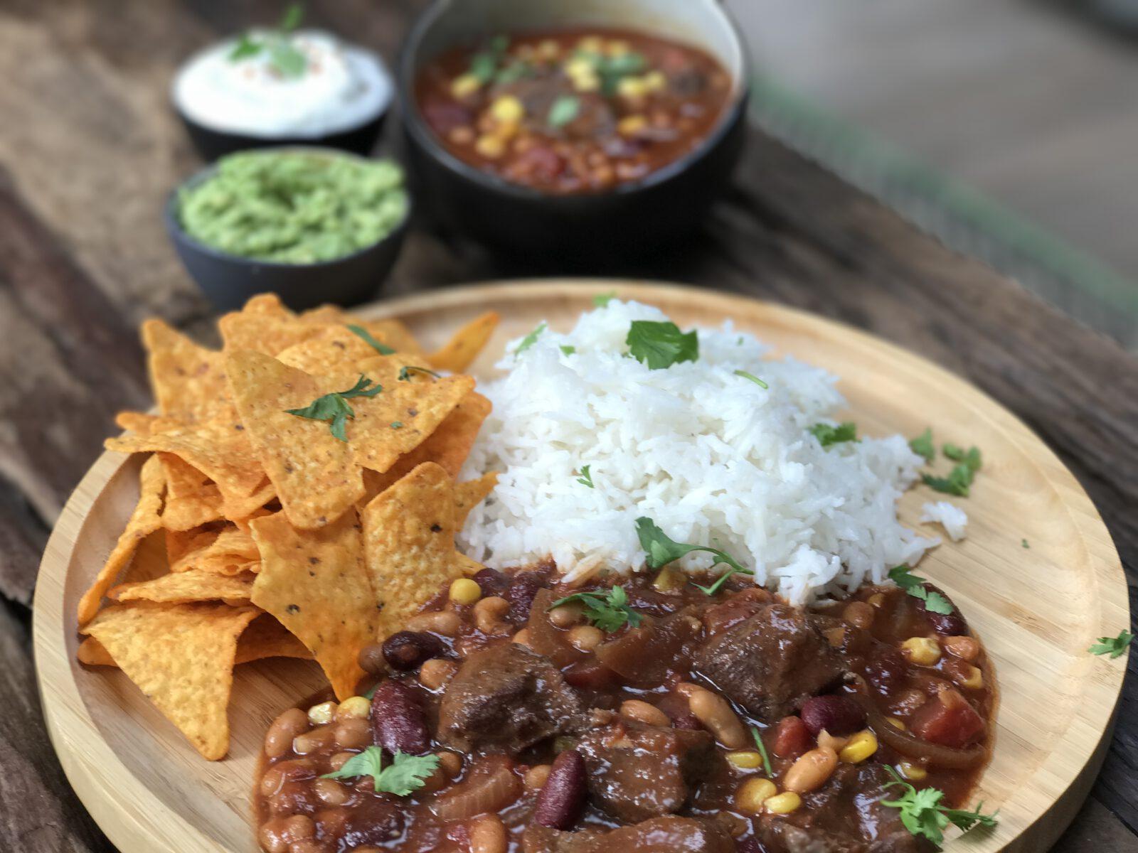 Mexicaanse chili con carne - Familie over de kook