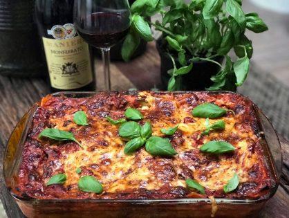 Vegetarische lasagne met courgette en aubergine
