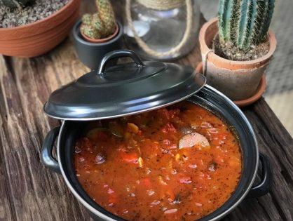 tomatensoep met geroosterde groenten