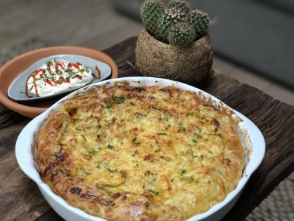 Hartige preitaart met ham en kaas