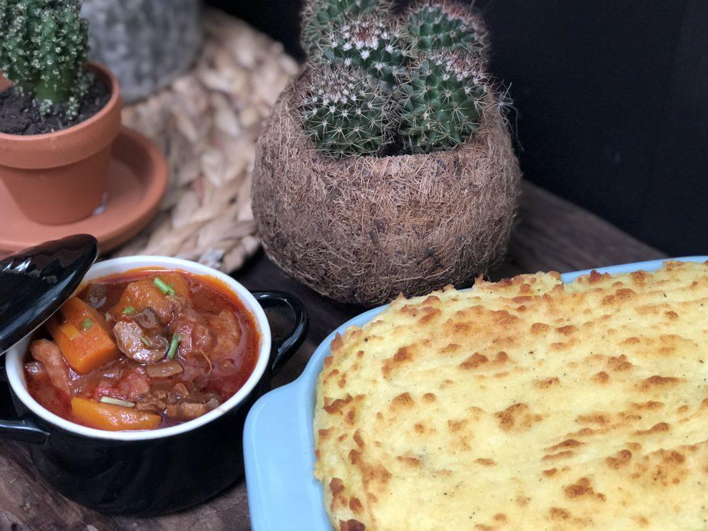 stoofschotel van kip en pompoen