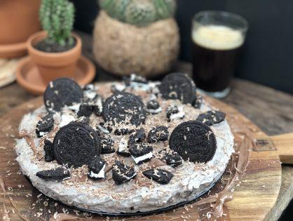 No Bake Oreo Cheesecake met chocolade