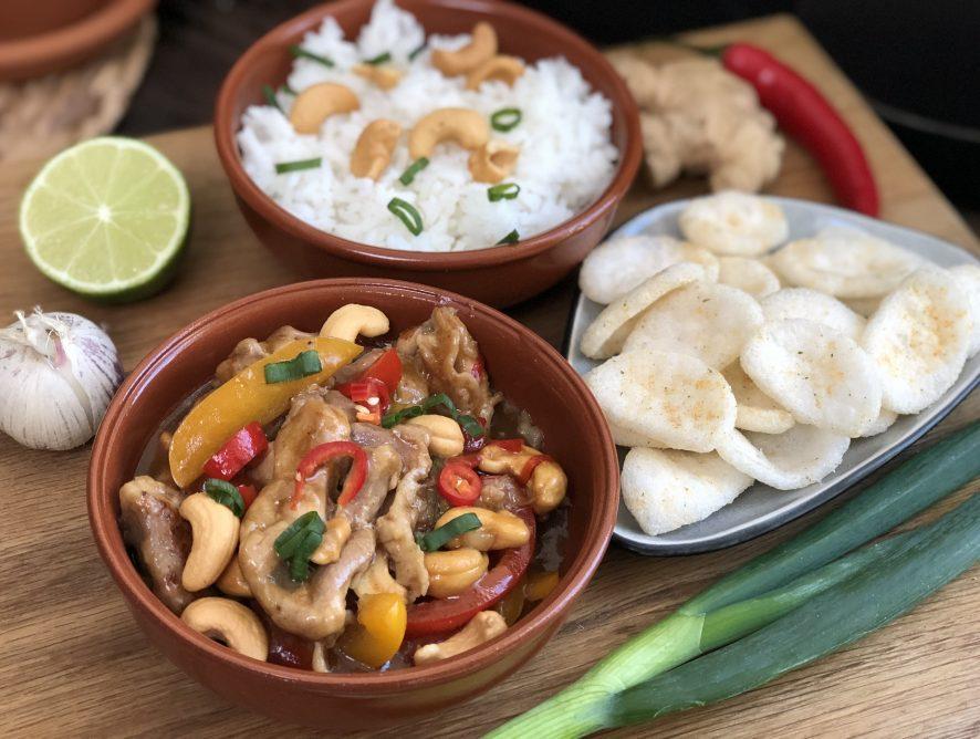 recept: Thaise kip cashew
