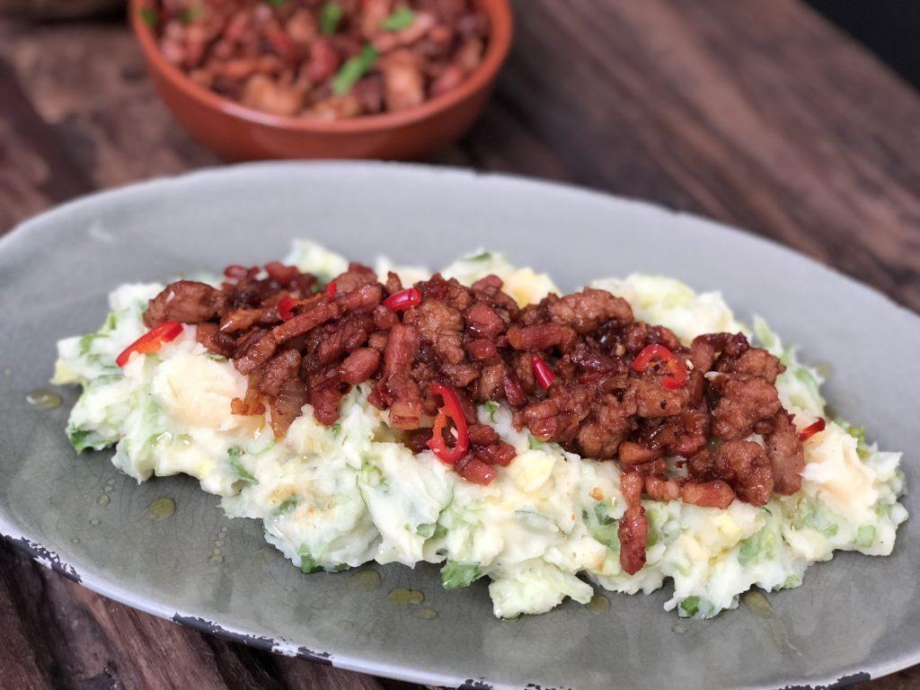 Pittige andijviestamppot met ketjap en oestersaus - Familie over de kook