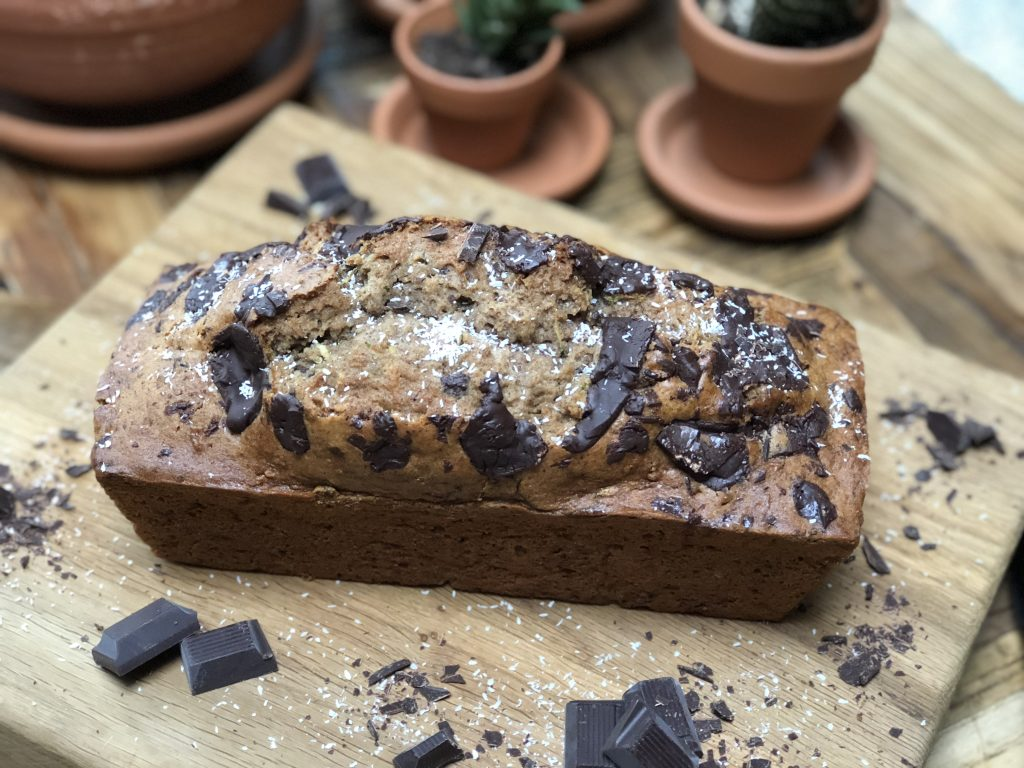 courgettecake met pure chocolade