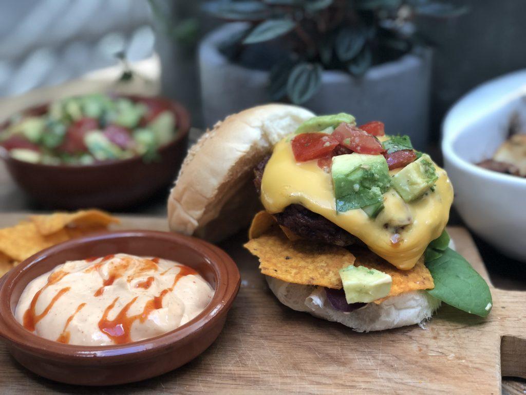 Mexicaanse kipburger