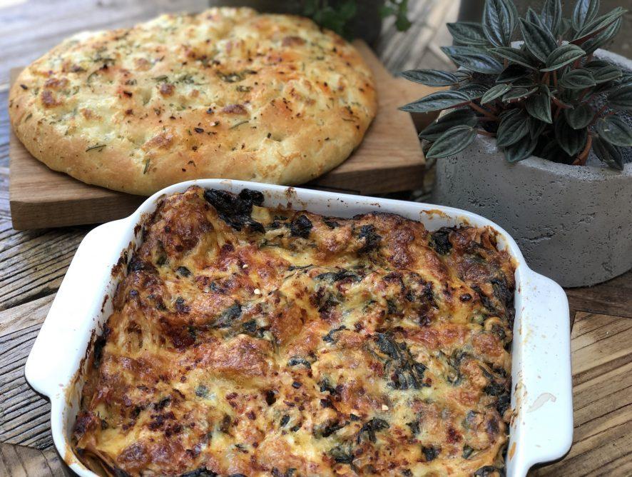 lasagne met spinazie en tonijn