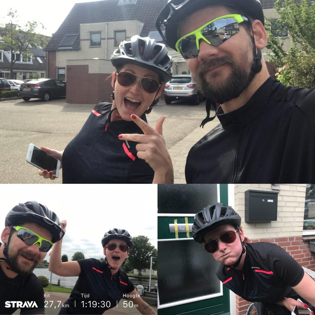 fietsen met partner