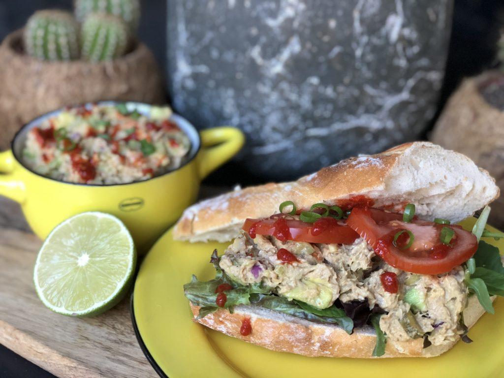 recept gezonde avocado tonijnsalade maken