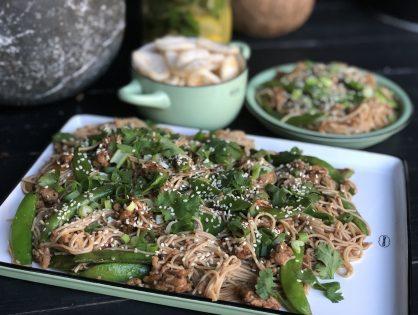 Aziatische noedels met groenten