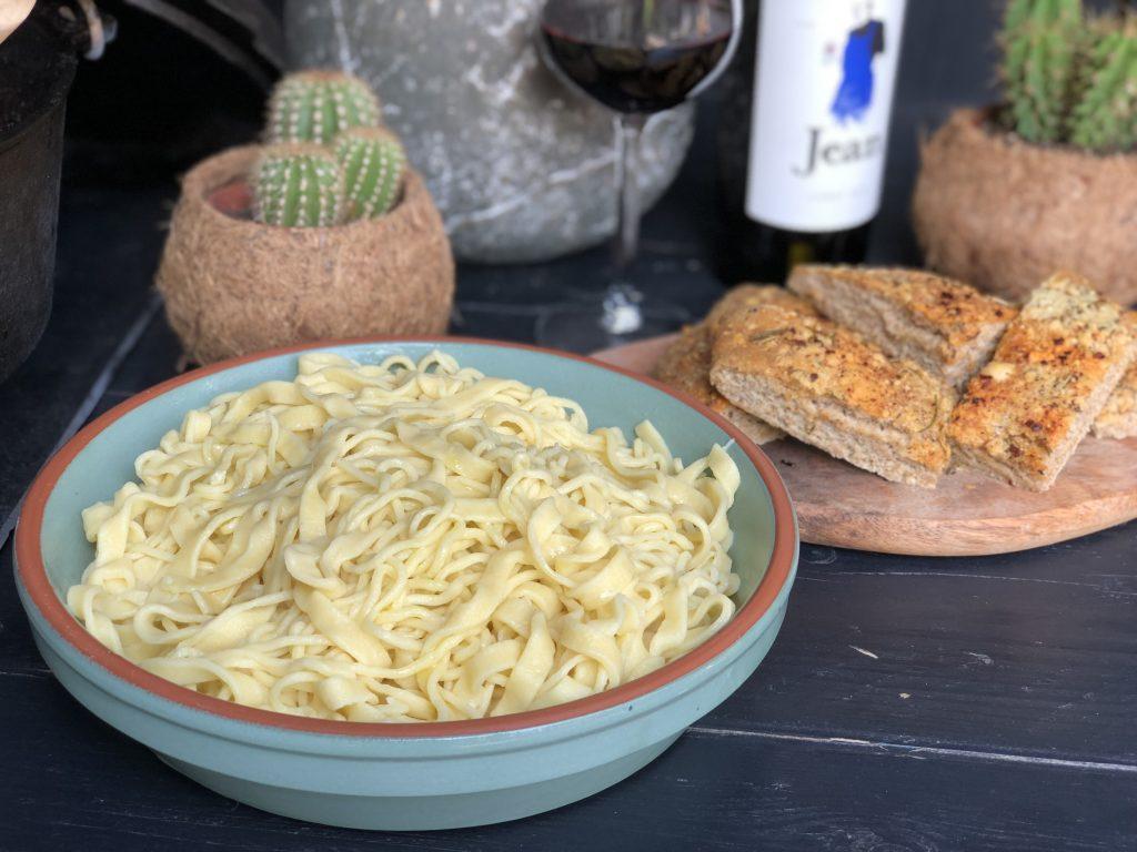 zelfgemaakte pasta.