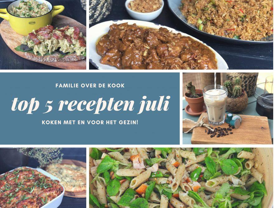 Top 5 recepten maand juli