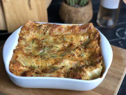 Lasagne met witlof, spek en roomsaus