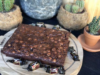 simpele brownie met chokotoff