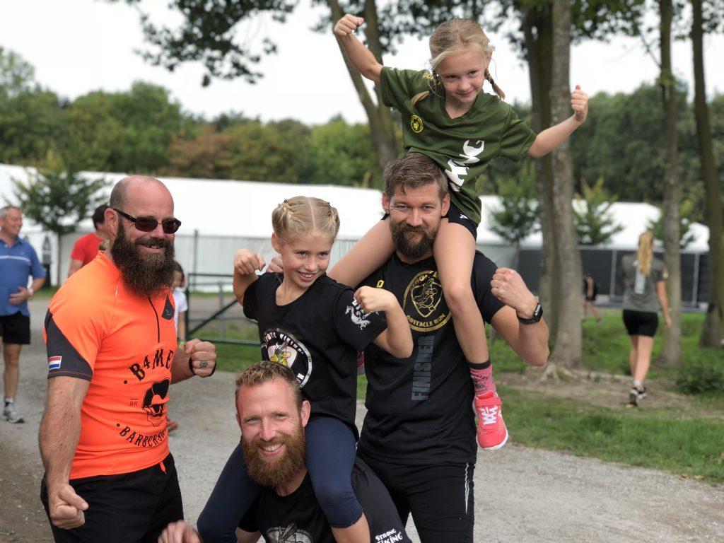 Strong Viking Family Run gelopen door team B4men en kinderen