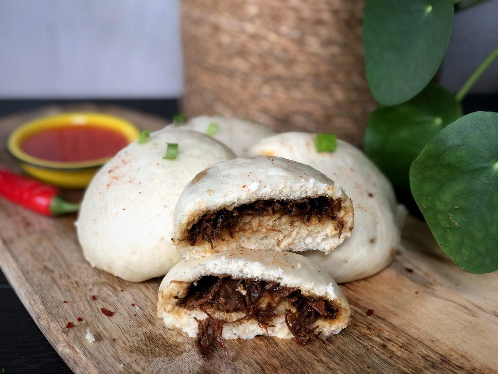 recept broodje bapao met Indische pulled beef