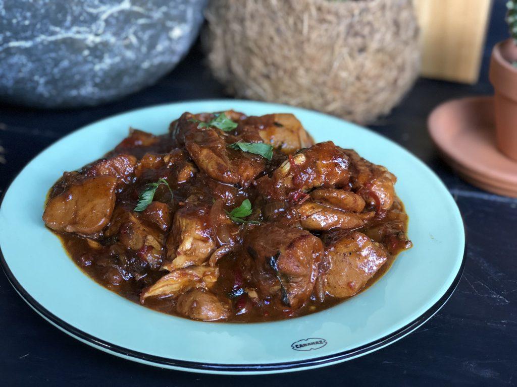 recept Surinaamse kip stoofpot