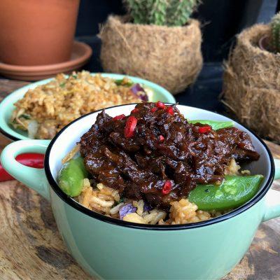 Indische pulled beef: pittig en zoet