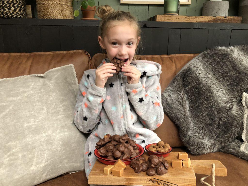 recept kruidnotenrotsjes met fudge maken als Sinterklaasrecept