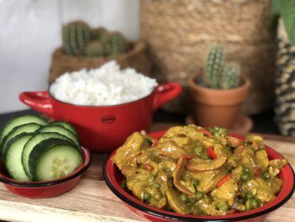 kip kerrie maken met rijst: pittig!