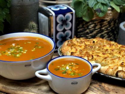 wortelsoep met kip: kruidig en pittig