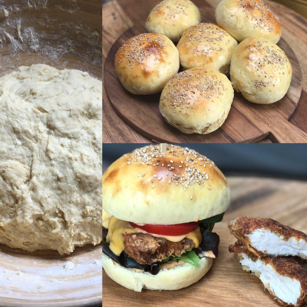 recept zelf hamburgerbroodjes maken