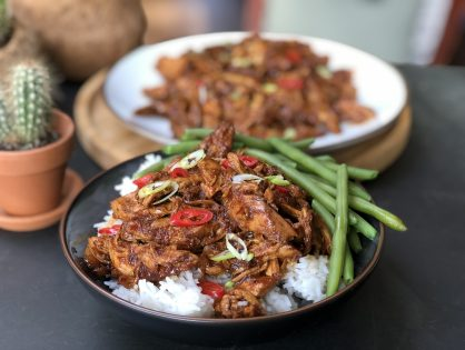 Indische pulled chicken: pittig en zoet!