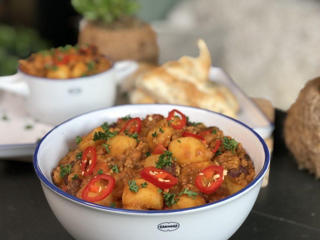 recept snelle chili con carne met gehakt en krieltjes