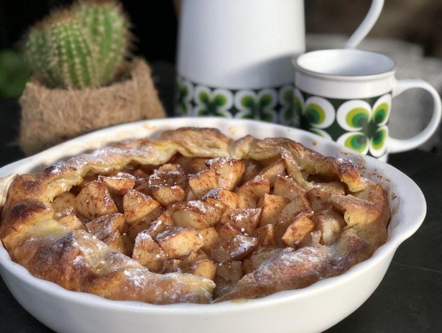 snelle appeltaart met bladerdeeg