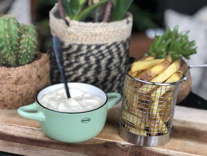 zelfgemaakte mayonaise met staafmixer