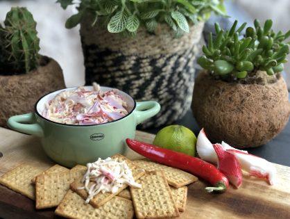 krabsalade: romig en pittig