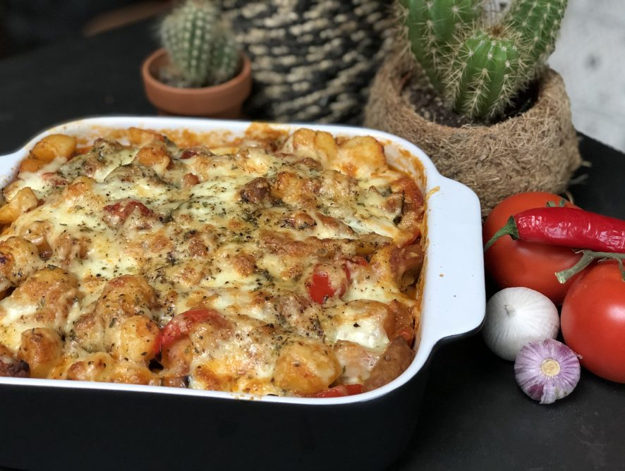 Italiaanse krieltjes ovenschotel met groenten