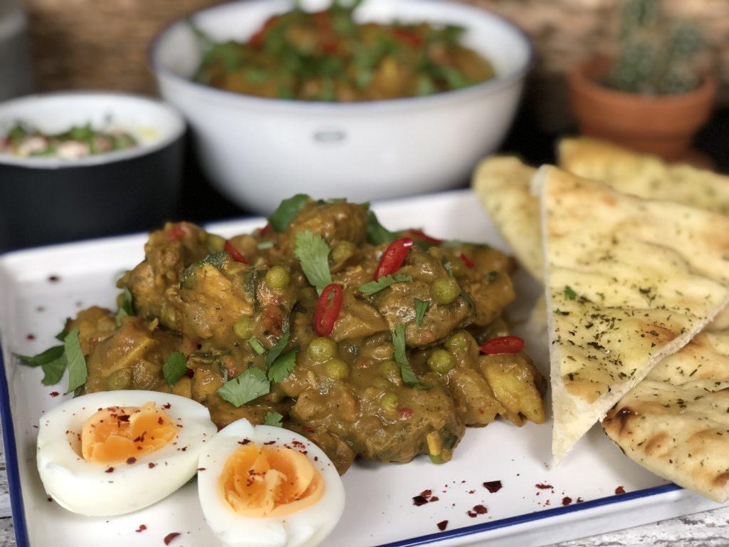 recept Indiase curry met kip, aardappel en groenten maken