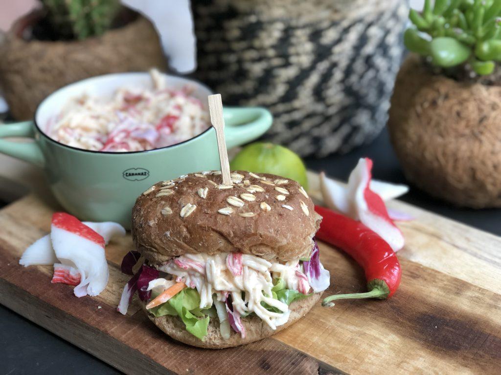 recept zelf krabsalade maken met surimi