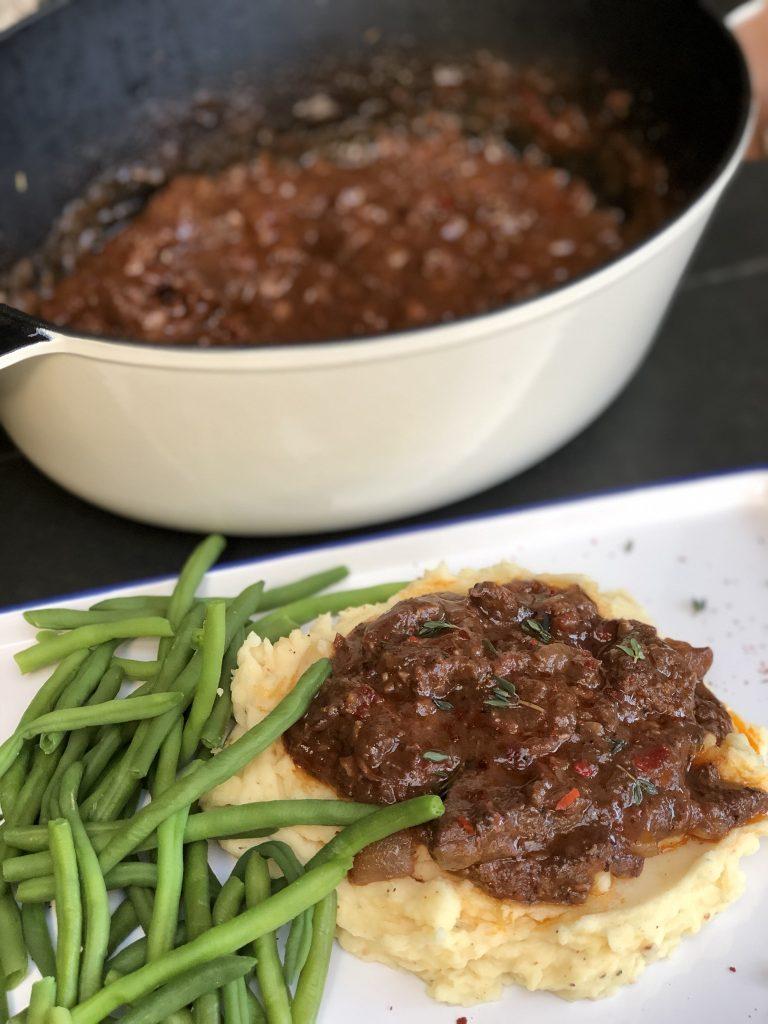 recept stoofvlees in rode wijn maken