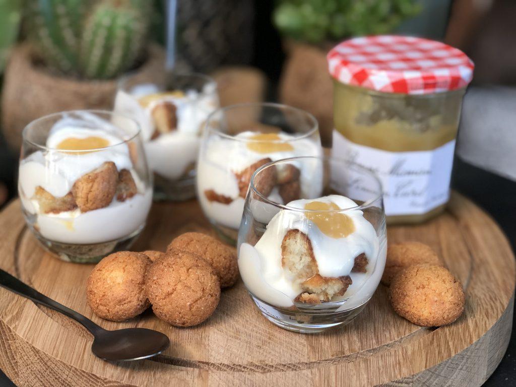 recept snelle trifle met bitterkoekjes en lemoncurd maken