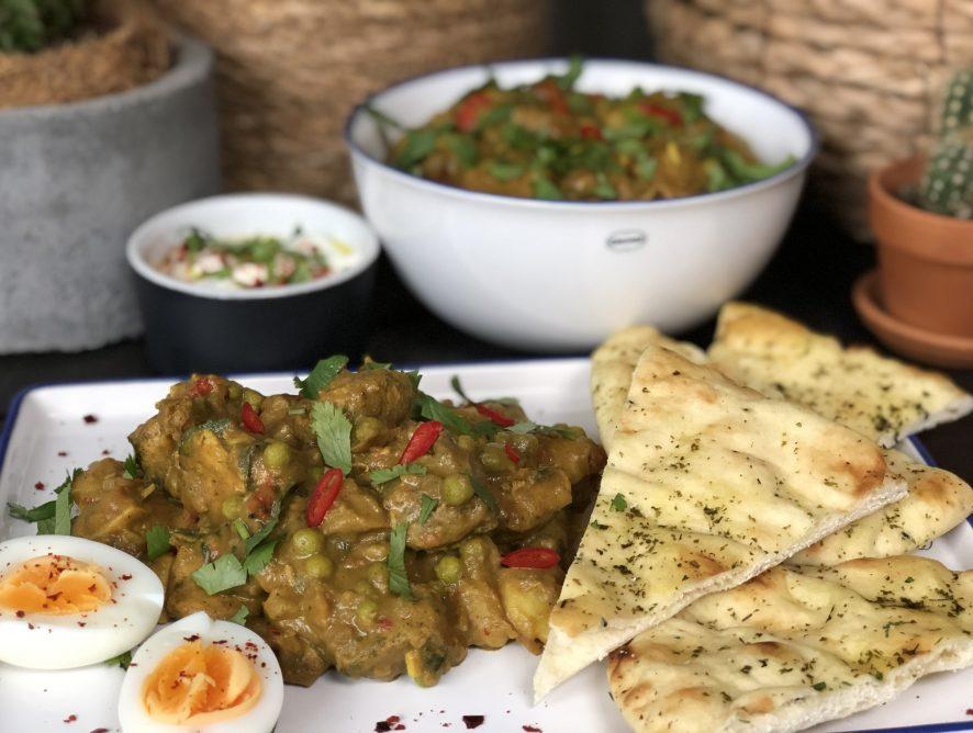 Indiase curry met kip, aardappel en groenten