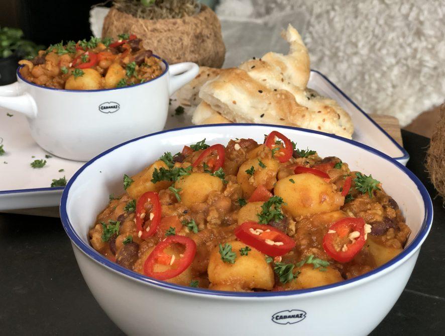 chili con carne met gehakt en krieltjes