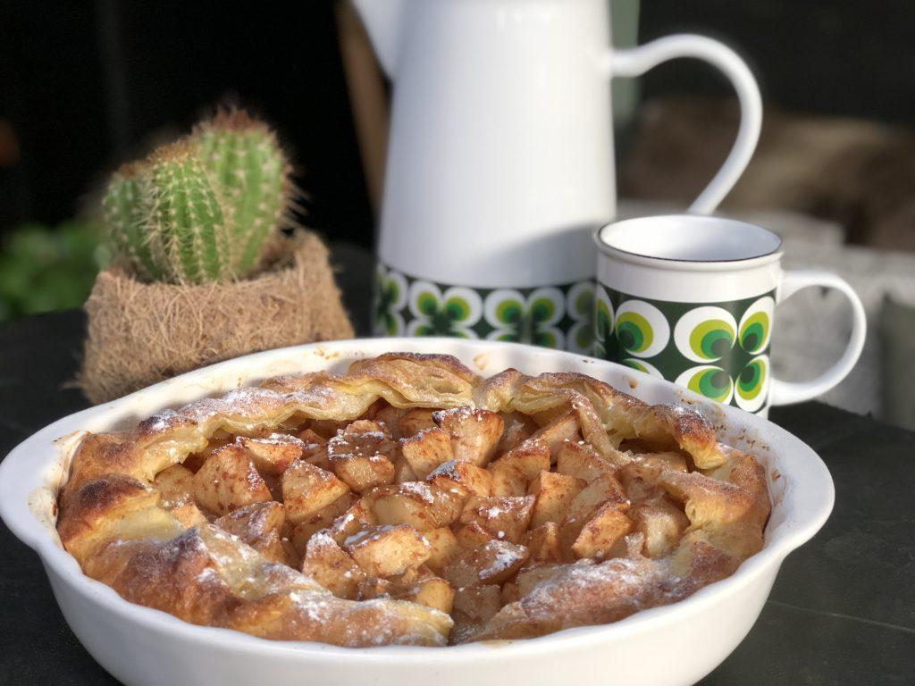 snelle appeltaart met bladerdeeg - Familie over de kook