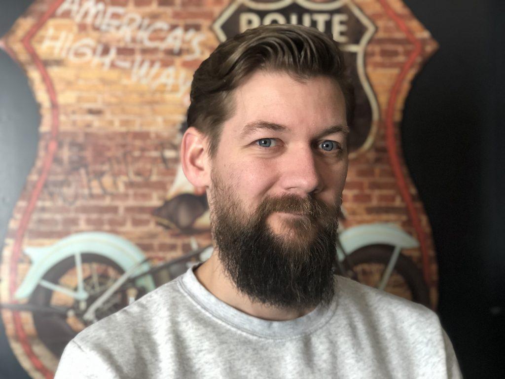 Jan Willem Huffmeijer met een lange baard