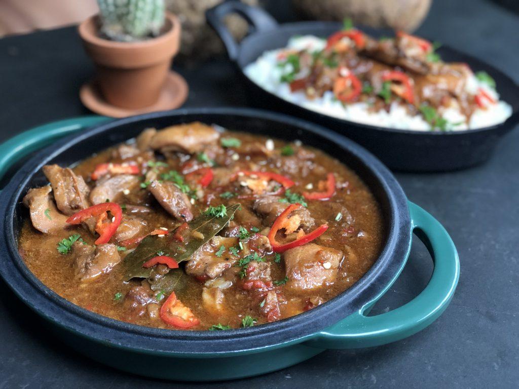 recept Javaanse kip stoofpot met rijst.