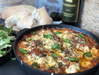 kip in pittige tomatensaus ovenschotel