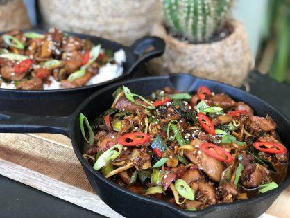 kip ketjap met groenten en rijst